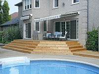 Landscaped pool and patio