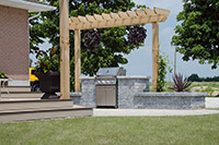 Landscaped BBQ Area