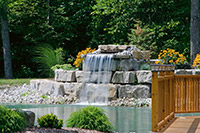 Landscaped Waterfall and Pond