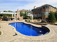 Residential Swimming Pool with Fountain